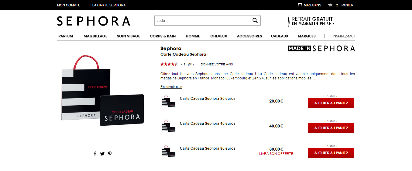 Codes Promo Sephora 25 De Réduc Novembre 2019 Codepochefr