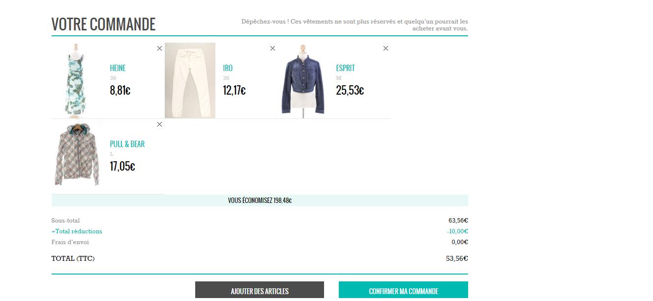 La page se réinitialisera, et vous pourrez voir apparaître à l écran la  réduction appliquée sur le montant de vos achats. a997e3872251